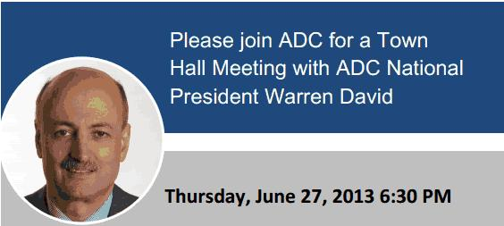 ADC DC Area Town Hall this Thursday, June 27!